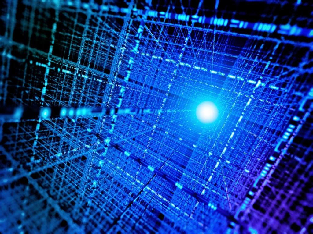 Quantum computer artist rendition